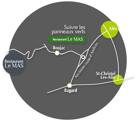 plan d'accès au Domaine du Serre d'Avène
